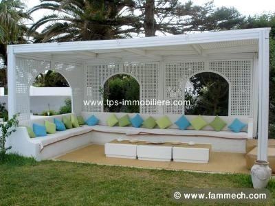 Immobilier tunisie location vacances hammamet villa for Decoration jardin tunis