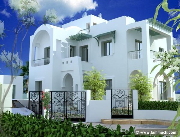 Immobilier tunisie vente maison zarzis belle villa for Plan maison tunisie