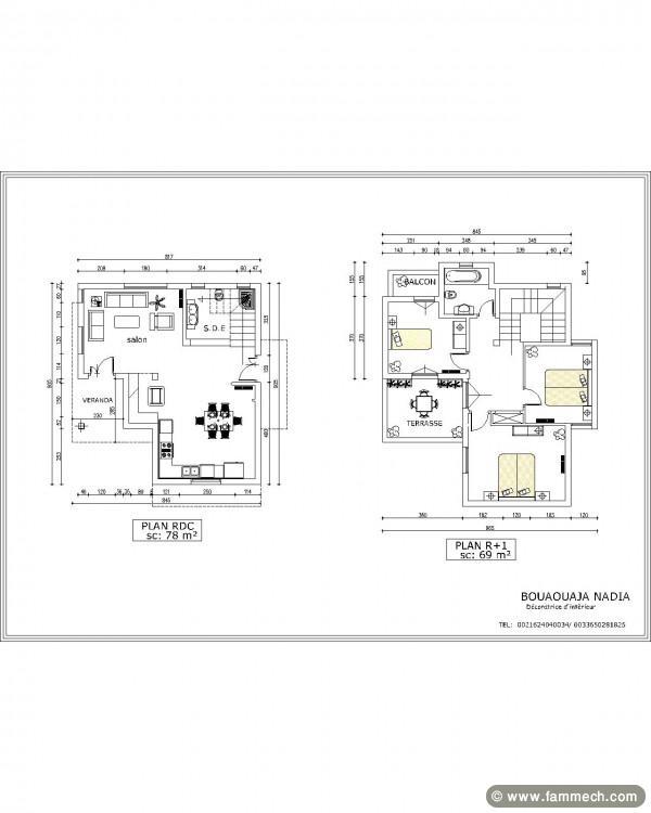 plan de maison zarzis