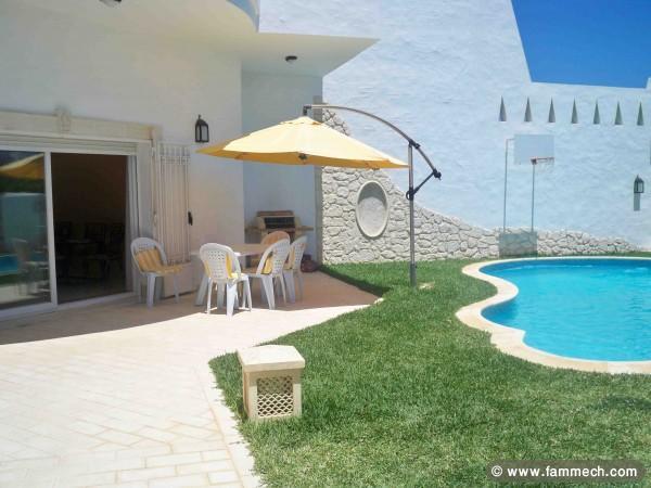 Immobilier tunisie location maison hammamet villa - Location villa hammamet avec piscine ...