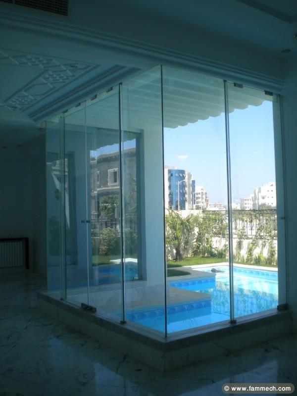 Immobilier tunisie location maison la marsa villa de for Jardin 400m2 piscine