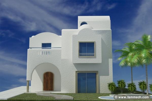 Immobilier tunisie vente maison hammamet exclusive for Plan maison tunisie