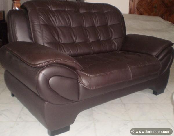 bonnes affaires tunisie maison meubles d coration salon cuir a vendre tout neuf 2. Black Bedroom Furniture Sets. Home Design Ideas