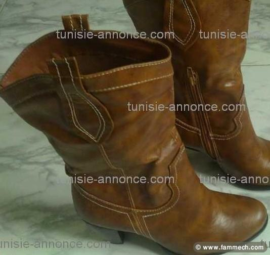 bonnes affaires tunisie v tements accessoires boots pour femme tr s bon prix. Black Bedroom Furniture Sets. Home Design Ideas