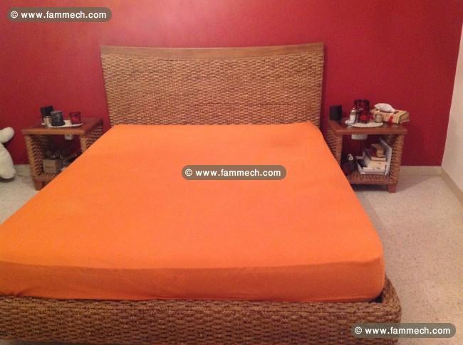 bonne affaire tunisie  maison meubles decoration chambre a coucher en rotin et bois