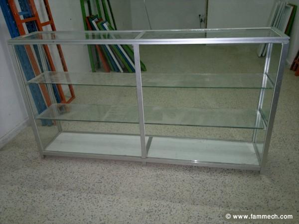 Bonnes affaires tunisie maison meubles d coration comptoir vitrine en verre - Comptoir vitrine magasin occasion ...