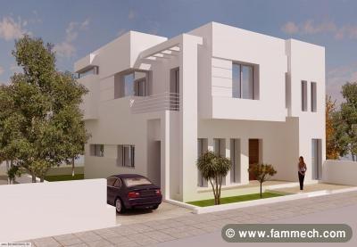 Immobilier tunisie vente maison hammamet duplex afh 1 for Plan villa style americain gratuit