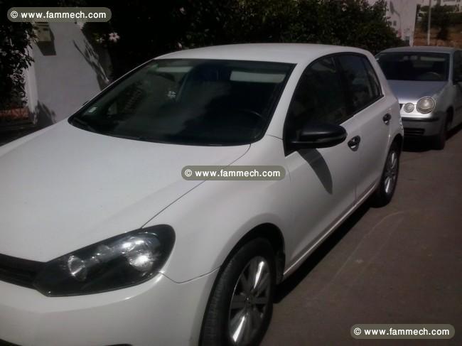 voitures tunisie volkswagen golf vi ariana golf 6 blanche. Black Bedroom Furniture Sets. Home Design Ideas