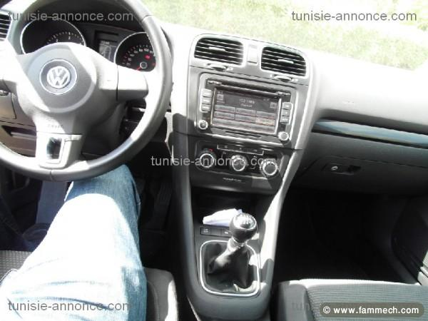 voitures tunisie volkswagen golf tunis golf 6 full option tunis 2. Black Bedroom Furniture Sets. Home Design Ideas