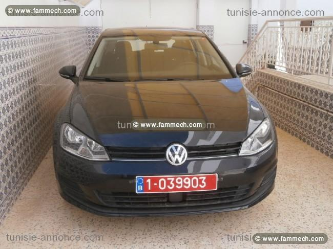 voitures tunisie volkswagen golf vii ariana golf 7 tdi 1 6 litres 105 chdin ttes options. Black Bedroom Furniture Sets. Home Design Ideas