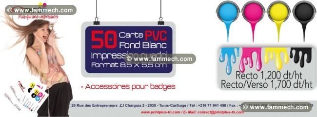 Impression Carte Visite Et Badges En PVC