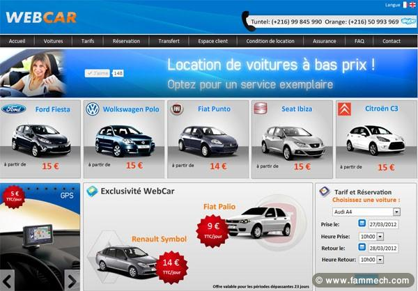 voitures tunisie nabeul location voiture tunisie avec webcar. Black Bedroom Furniture Sets. Home Design Ideas