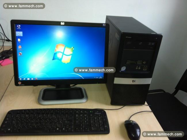 bonnes affaires tunisie ordinateurs de bureau pc bureau hp 2 duo tt neuf en promo
