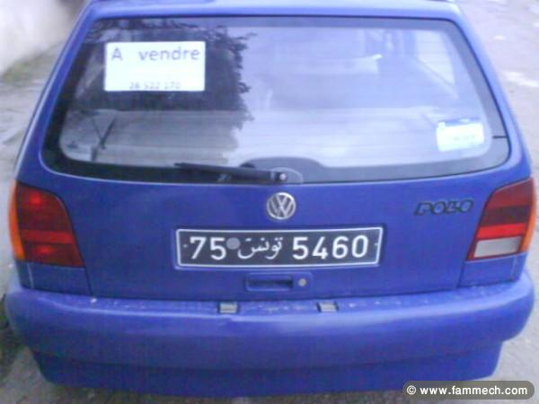 voitures tunisie volkswagen polo ben arous polo 3 avendre ndhayfa. Black Bedroom Furniture Sets. Home Design Ideas