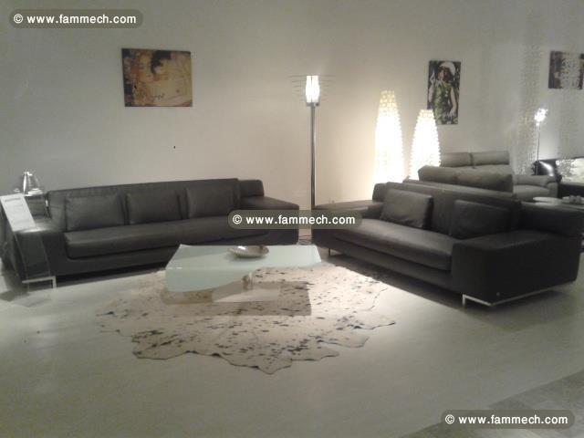 Salon Cuir Tunisie: Canapé photo blanc.