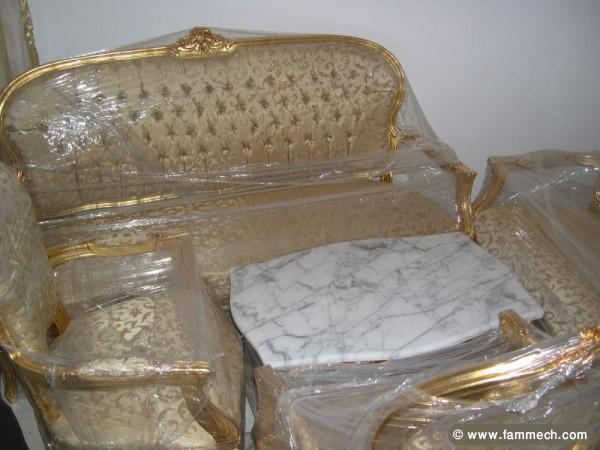 bonnes affaires tunisie maison meubles d coration salon louis 15 couleur beige 7 places 0. Black Bedroom Furniture Sets. Home Design Ideas