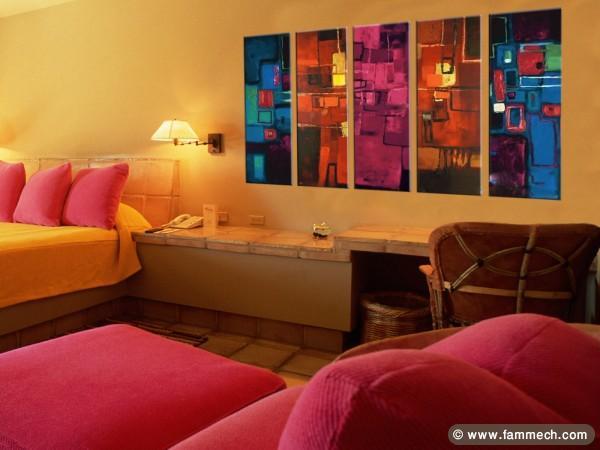 Tableau d coration salon tunisie id e for Peinture a lhuile couleur argent