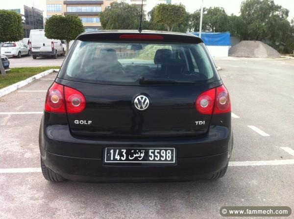 voitures tunisie volkswagen golf v ben arous vente belle golf 5 tdi 4. Black Bedroom Furniture Sets. Home Design Ideas