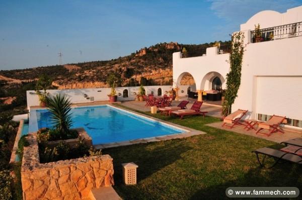 Immobilier tunisie location vacances hammamet villa du for Piscine mobile louer