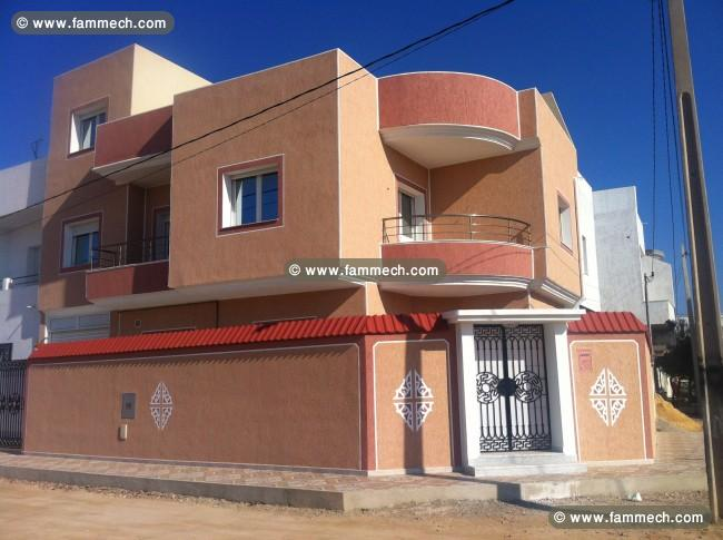 Immobilier tunisie vente maison monastir villa style for Plan villa style americain gratuit