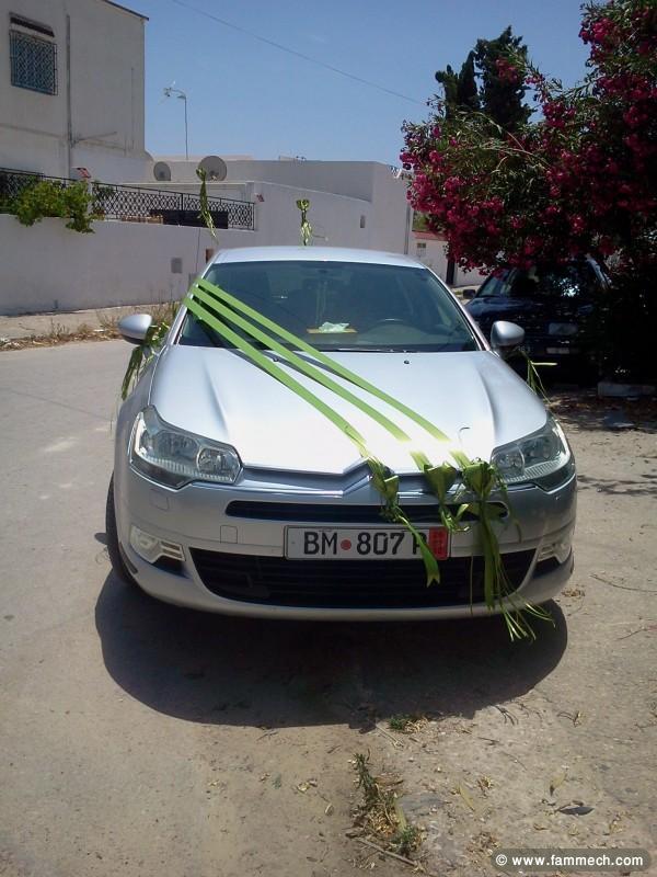 decoration voiture mariage tunis