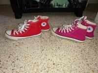2 converse all star femme rouge et rose