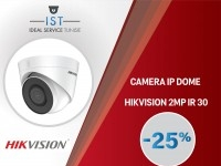 IST:  CAMERA IP DOME HIKVISION 2MP IR30