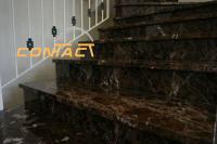 marbre espagnole emperador dark 1èr choix lustré