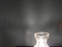 Veilleuse Ancienne Modèle Et Vase À Fleur Cristal